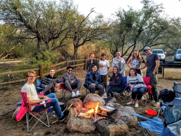 Bonfire & walking tacos at Catalina State Park